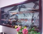 In una teca, gli strumenti originali del Maestro d'Ascia Giuseppe Romoli